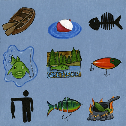 Gone Fishing Cut Outs
