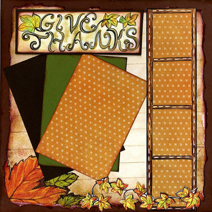 Happy Thanksgiving Quick Pages Set - (Left & Right)