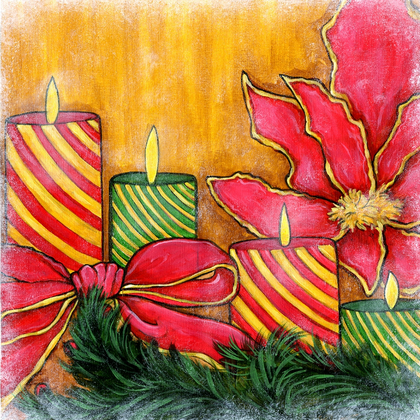 Holiday Candles - PRINT