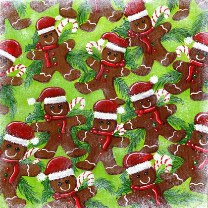 Holiday Gingerbread Men - PRINT