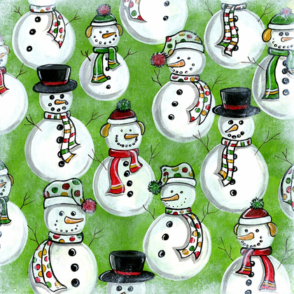 Holiday Snowmen - PRINT