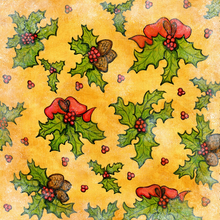 Holly Leaves - PRINT