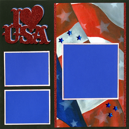 I Love The USA - Quick Pages Set - Left & Right