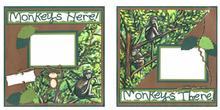 Monkeys Here & There Finished Page Set