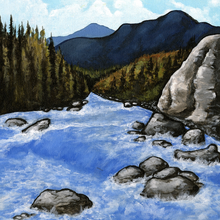 Mountain River - Print
