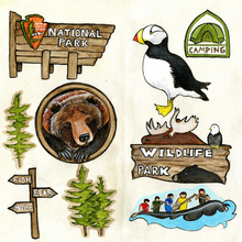 National Park Travel Cut-Outs