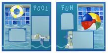 Pool Fun Finished Page Set