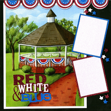 Red, White & Blue - Quick Pages Set - Left & Right