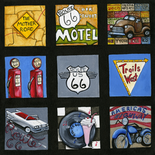 Route 66 Squares Cut-Outs