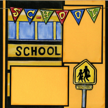 School Bus - Quick Pages Set - Left & Right