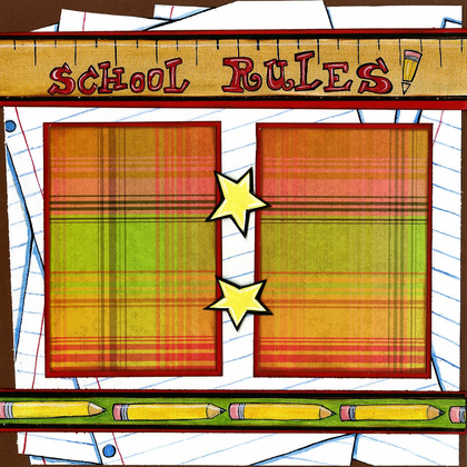 School Rules - Quick Pages Set - Left & Right