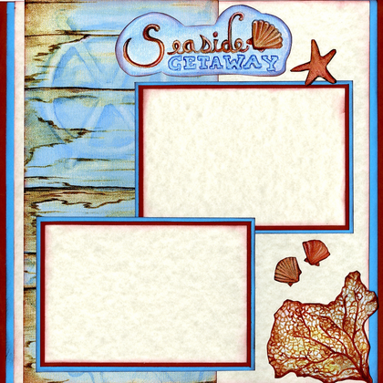 Seaside Moments Quick Page Set - Left