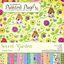 Secret Garden Collection Pack - 8 doubled sided prints plus 3 cut-out sheets