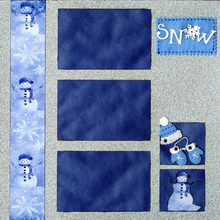 Snow Day Fun - Quick Pages Set - Left & Right