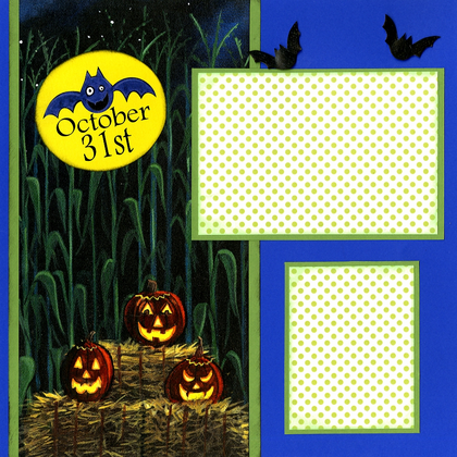 Spooky Corn Patch (Page Kit) - Left & Right