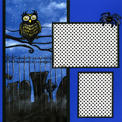 Spooky Owl (Page Kit) - Left & Right