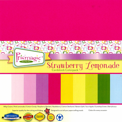 Strawberry Lemonade Cardstock Color Pack  -  30 heavyweight sheets  in 10 vibrant colors
