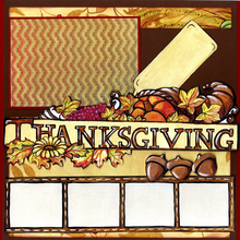 Thanksgiving Harvest Quick Pages Set (Left & Right)