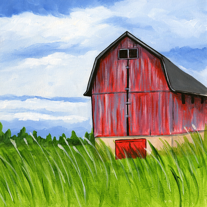 The Old Red Barn - PRINT