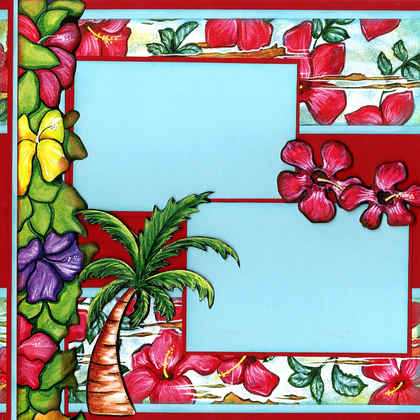 Tropical Paradise (Page Kit) - Left