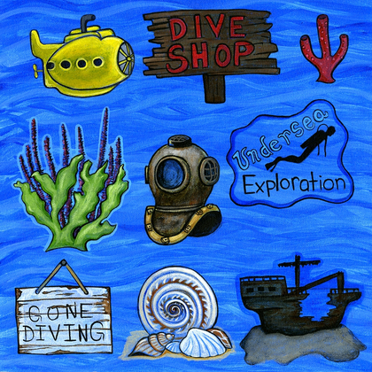 Underwater Fun Cut Outs