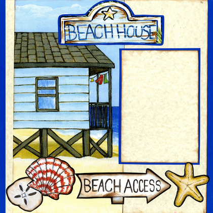 Vacation Beach House (Page Kit) - Left