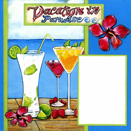Vacation in Paradise (Page Kit) - Left