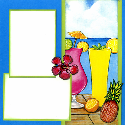 Vacation In Paradise Quick Page Set - Right