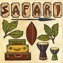 Vintage Safari - CUT-OUT