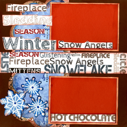 Winter Snow Fun - Quick Pages Set - Left & Right