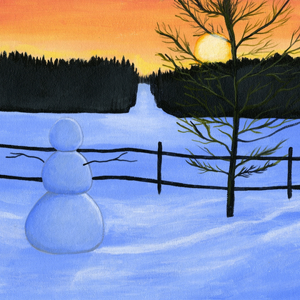 Wintertime Sunset - PRINT