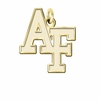 Air Force Academy Falcons 14K Yellow Gold Natural Finish Cut Out Logo Charm