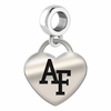 Air Force Heart Dangle Charm