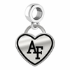 Air Force Falcons Border Heart Dangle Charm