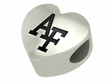 Air Force Falcons Heart Shape Bead
