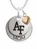 Air Force Falcons MOM Necklace with Heart Charm