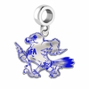 Air Force Falcons School Color Logo Drop Charm