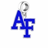 Air Force Falcons Silver Logo and School Color Drop Charm