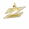 Akron Zips 14K Yellow Gold Natural Finish Cut Out Logo Charm