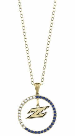 Akron Zips Sapphire and Diamond Necklace