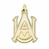 Alabama A&M Bulldogs 14K Yellow Gold Natural Finish Cut Out Logo Charm
