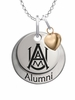 Alabama A&M Bulldogs Alumni Necklace with Heart Accent