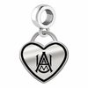 Alabama A&M Bulldogs Border Heart Dangle Charm