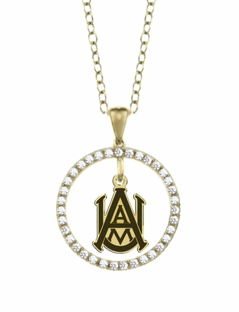 Alabama A&M Bulldogs Gold and Diamond Circle Pendant