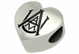 Alabama A&M Bulldogs Heart Shape Bead