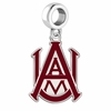 Alabama A&M Bulldogs Silver Logo and School Color Drop Charm