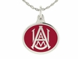 Alabama A&M Silver Enamel Charm