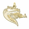 Alabama Birmingham Blazers 14K Yellow Gold Natural Finish Cut Out Logo Charm