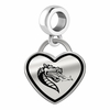 Alabama Birmingham Blazers Border Heart Dangle Charm