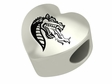 Alabama Birmingham Blazers Heart Shaped Bead